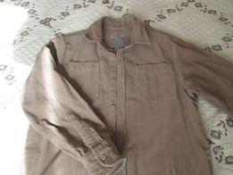 Рубашка вельветовая на мальчика 9 лет, рост 134