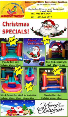 Christmas SPECIALS on our brand new Jumping Castles & water slides!