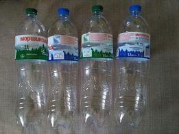 Пластиковые бутылки из-под минеральной воды 1.5 литра