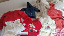 New and used clothes and shoes and blankets and hats