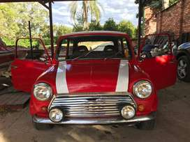 This is a 1965 bull nose classic mini in mint condition