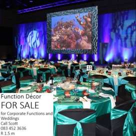 Function Decor for Corporate Events and Weddings FOR SALE
