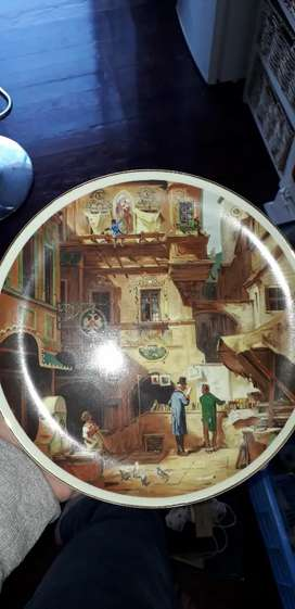 German artwork antique plate