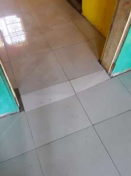 Tiling, painting and ceiling