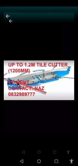 Tile cutter for hire 1.2m 800mm 600mm 1200mm
