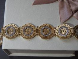 styl VERSACE przepiękna złota bransoletka 14k 585 idealna na prezent