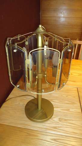 Heavy, four-globe stand-alone lamp 4 Sale