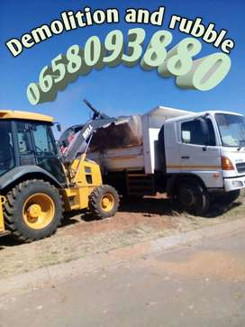 Rubble Removals/Swimming Pool Demolition and Trucks for Hire
