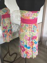 Sukienka w kwiaty Cubus M bez ramiączek