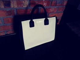 Torebka damska bialo/czarna,od Karla Lagerfelda.