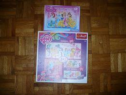 Puzzle Trefl 3+1My Little Pony i Clementoni Princess