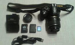 Nikon D 3100 + obiektyw + torba + dokumenty i pudełko