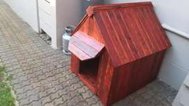 Large dog kennel with awning