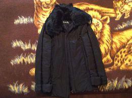 Продам куртку-пуховик с воротником из кролика