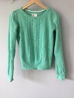Sweterek miętowy H&M 100% bawełna
