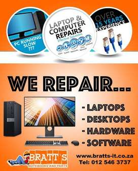 We do repairs on all computers and notebooks.