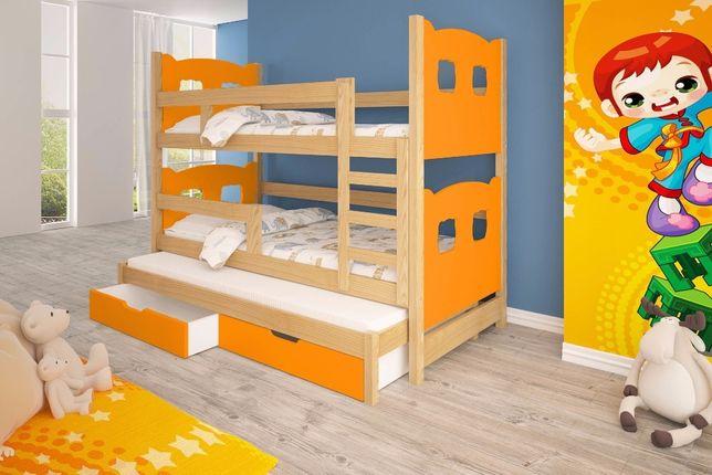 Meble dla dzieci. Łóżko piętrowe 3-osobowe! Dostawa GRATIS ! Gdańsk - image 3
