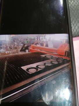 Steel Cnc machine working 100%it can cut from 0.8 up to 20mm thick