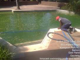 Swimming pool renovations: remarblelite, painting, cleaning