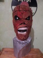 Iron Maiden Eddie the head/ різьба по дереву,скульптура