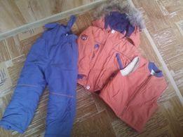 Зимний костюм (куртка, комбинезон, жилет) Кико 92 см(+6см) на 3-4 года