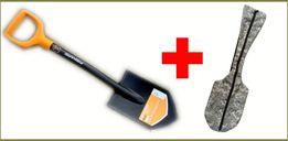 Лопата Fiskars Solid 131417 Саперка, Саперная + Чехол 85 см