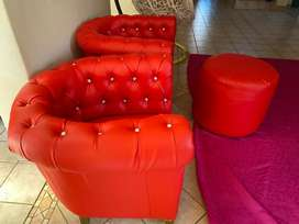 tub chairs with ottomen
