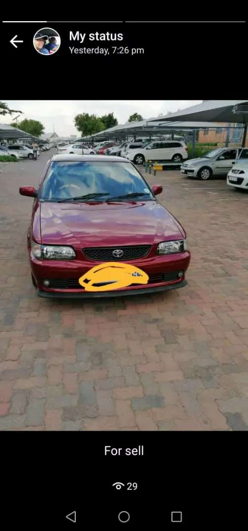 TOYOTA TAZZ FOR SALE AT VERY GOOD PRICE MANUAL 0