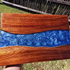 Solid Teak Serving Plank-Resin treated