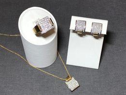 Золотой набор с бриллиантами CasaGi