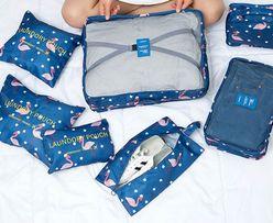 Набор дорожных сумок- органайзеров из семи штук Фламинго