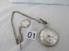 Antique Pocket Watch Silver , approx. 1850