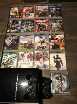 PlayStation 3 with 17 games