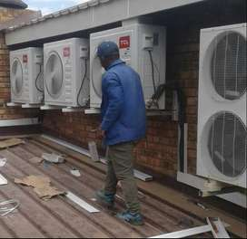 Installing and servicing air conditioners