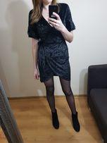 Welurowa sukienka na Sylwestra, nowa z metką.