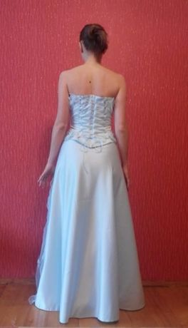 Платье выпускное / на свадьбу + ожерелье и серьги + туфли белые Киев - изображение 1
