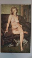 Obraz olejny akt kobiecy płótno szpachla rosyjski malarz