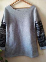 ciepła bluza szary melanż norweskie wzory