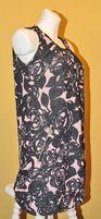 Kwiaty czarne róż beż sukienka 36 S fervente - wysyłam