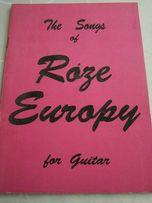 śpiewnik Róże Europy na gitarę