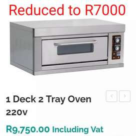 1 Deck 2 tray Oven (with stands)