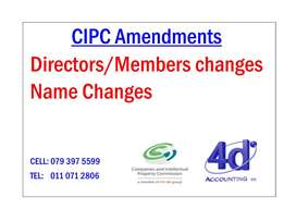CIPC Amendments