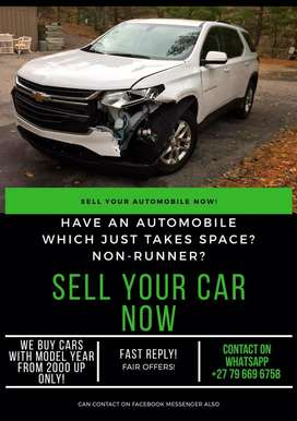 Sell YOUR vehicle NOW!