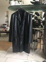 Мужское кожаное пальто 52-54