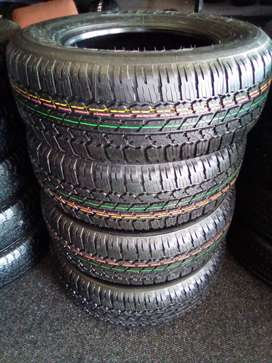 A set of 265/65/17 brand new Bridgestone dueller A/T for R6300