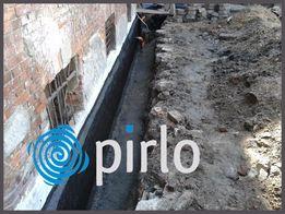 Izolacje pionowe poziome fundamentów, drenaże, osuszanie bezinwazyjne.