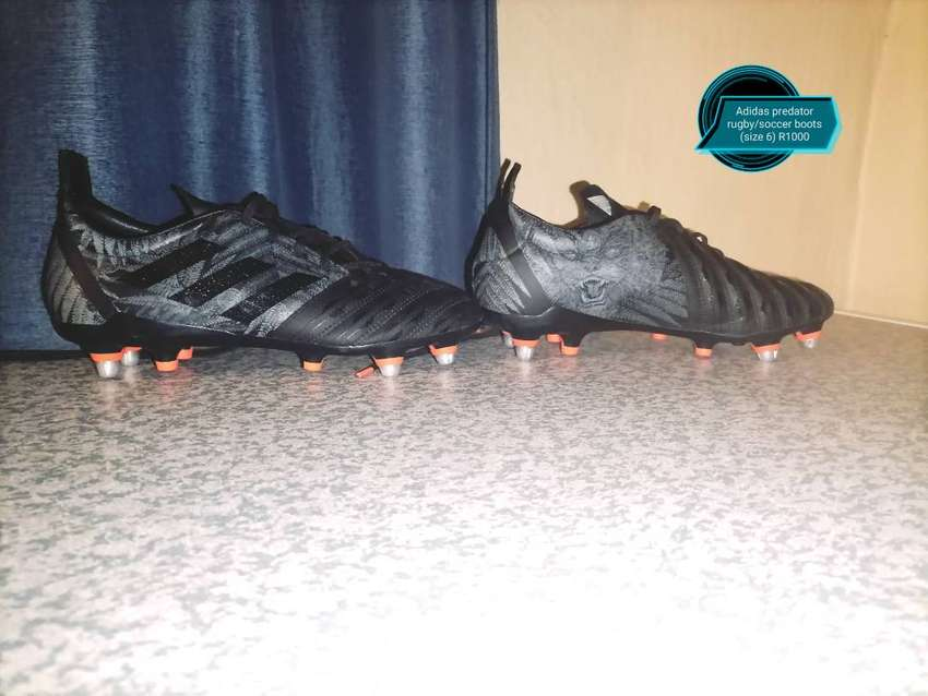 Adidas predator rugby/soccer boots (size 6)