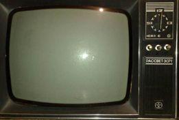Раритетный ламповый телевизор «Рассвет 307» 1982 года выпуска