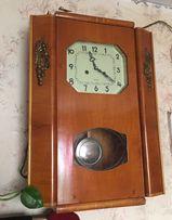Часы настенные с маятником (боем) 60х годов (СССР)