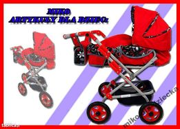 MEGA duży wózek dla lalek! 3v1! Produkt Polski, Super cena!